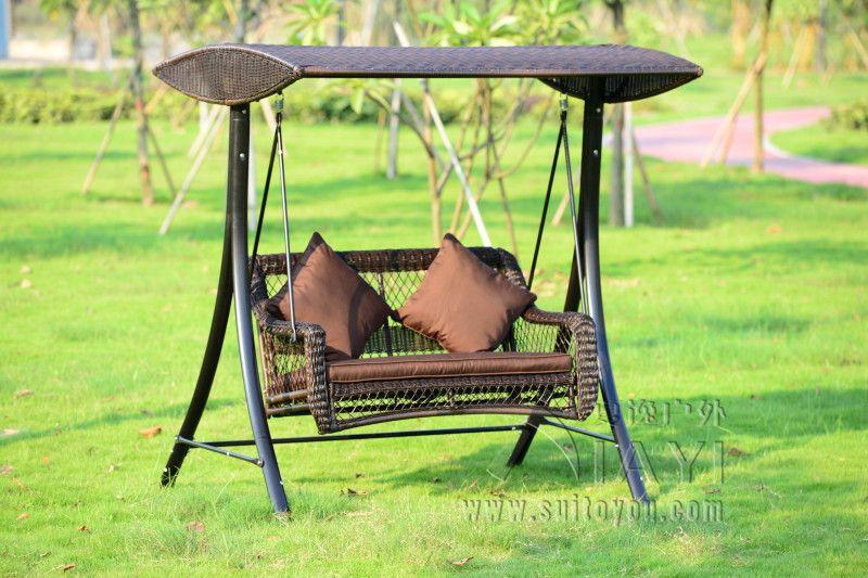 Delightful Barato 2 Pessoas De Vime Pátio Jardim Cadeira De Balanço Haning Rede De  Vime Ao Ar