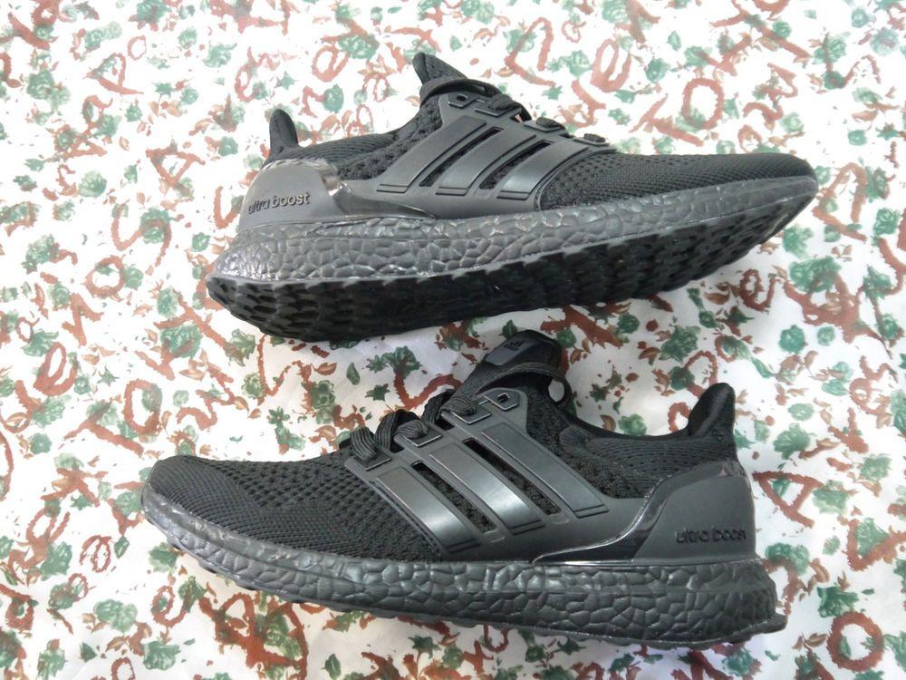 5f92abf0e06 BB4677 Adidas Ultra Boost 1.0 Triple Black Men s Rare Running Shoes Size 10   fashion