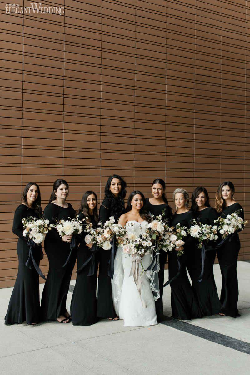 Black bridesmaids dresses long black bridesmaids dresses modern black bridesmaids dresses long black bridesmaids dresses modern black and white wedding elegantwedding ombrellifo Choice Image