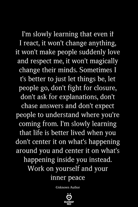 I'm Slowly Learning That Even If I React