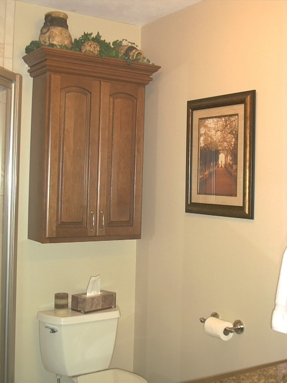 Bathroom storage cabinets over toilet wall cabinet above for Over the toilet cabinet
