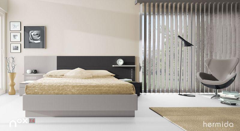 Nox 14 bedroom furniture camas de madera blancas for Camas blancas de madera