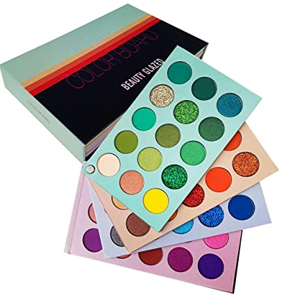 Amazon Com Beauty Glazed Eyeshadow Palette 60 Colors Mattes And Shimmers High Pigmented Color Board Palettes Long La Beauty Glazed Eyeshadow Pigment Coloring