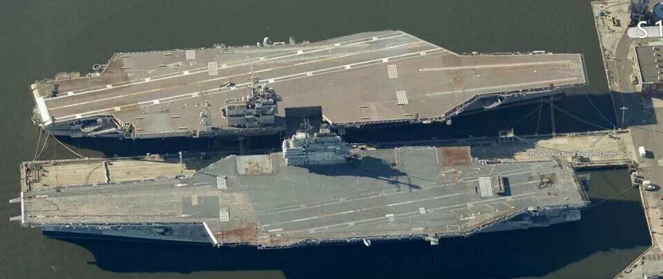 Retired USS John F Kennedy and USS Forrestal