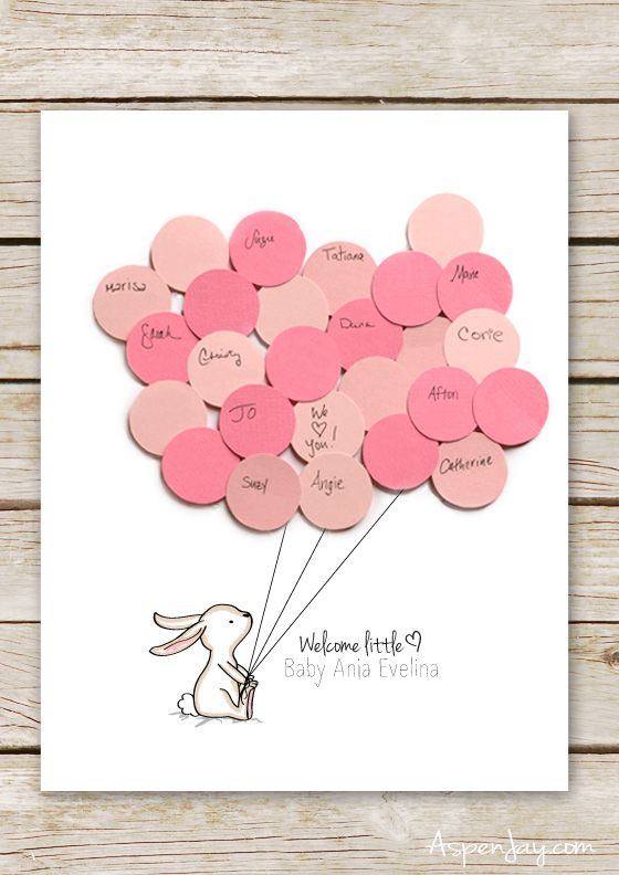 Baby Shower Guest Book Sign Printable : shower, guest, printable, Bunny, Shower, Guest, Printable, Aspen, Shower,, Book,
