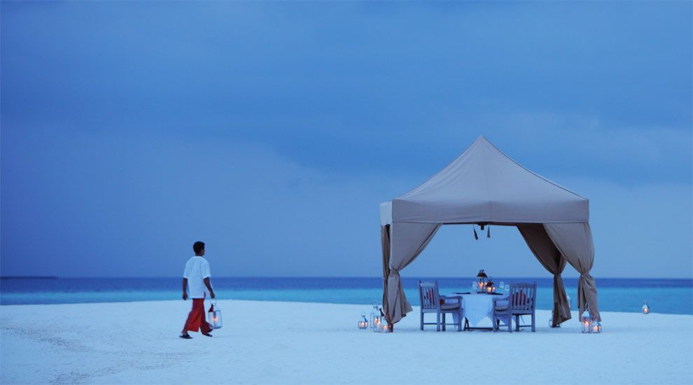 This what I call a real Romantic dinner. Cocoa Island Maldives.