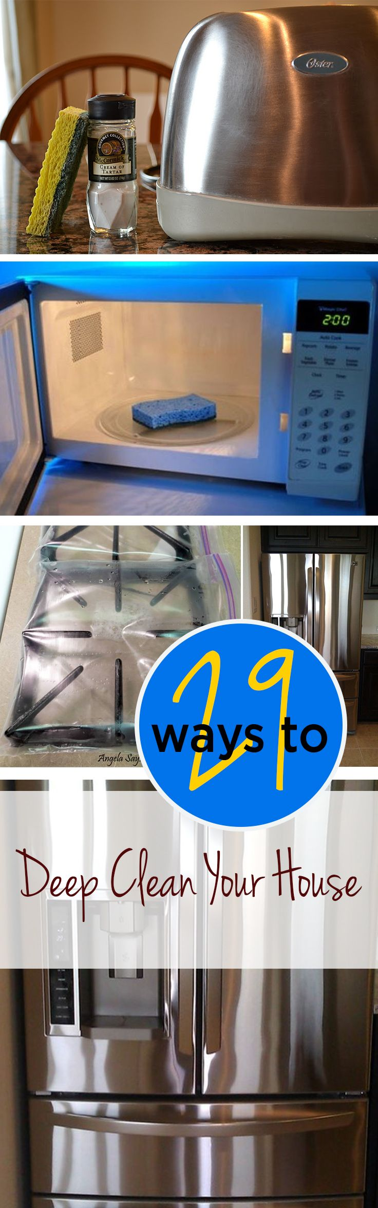 29 Ways to Deep Clean Your Home | House, Organizing and Household