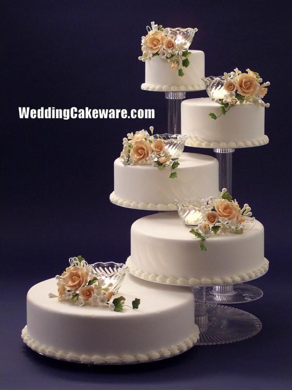 Wedding Cake Stands Plates5 TIER CASCADE WEDDING CAKE STAND