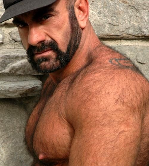 Hairy Beautiful Hunx Hairy Daddy Hunk with Big Cock