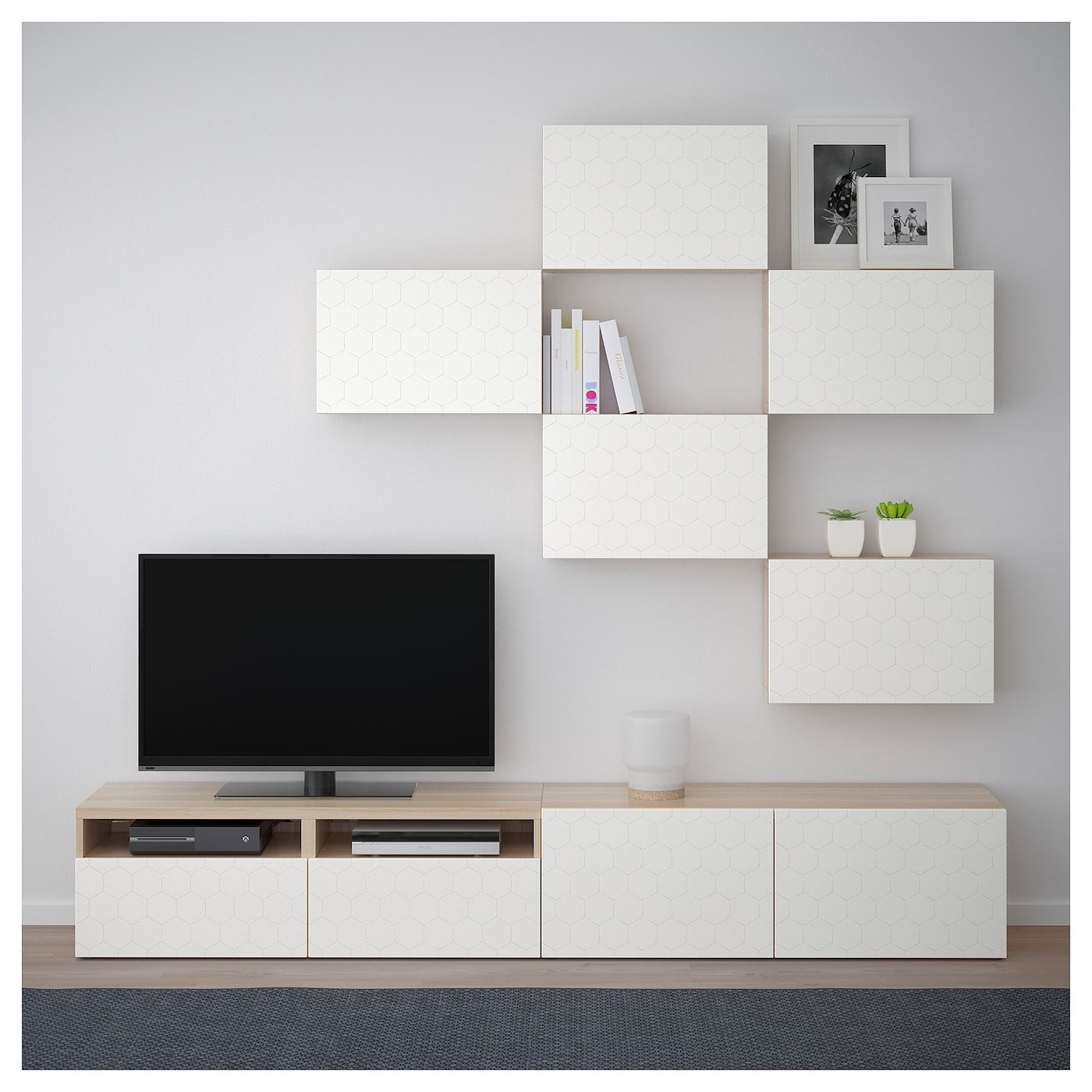 Besta Tv Meubel Combinatie.Besta Tv Meubel Combinatie Eikeneffect Wit Vassviken Wit