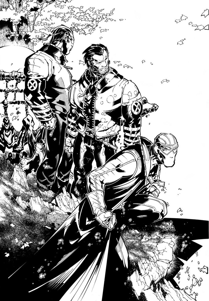 Cyclops, Wolverine, and Fantomex by  Chris Bachalo and Tim Townsend *