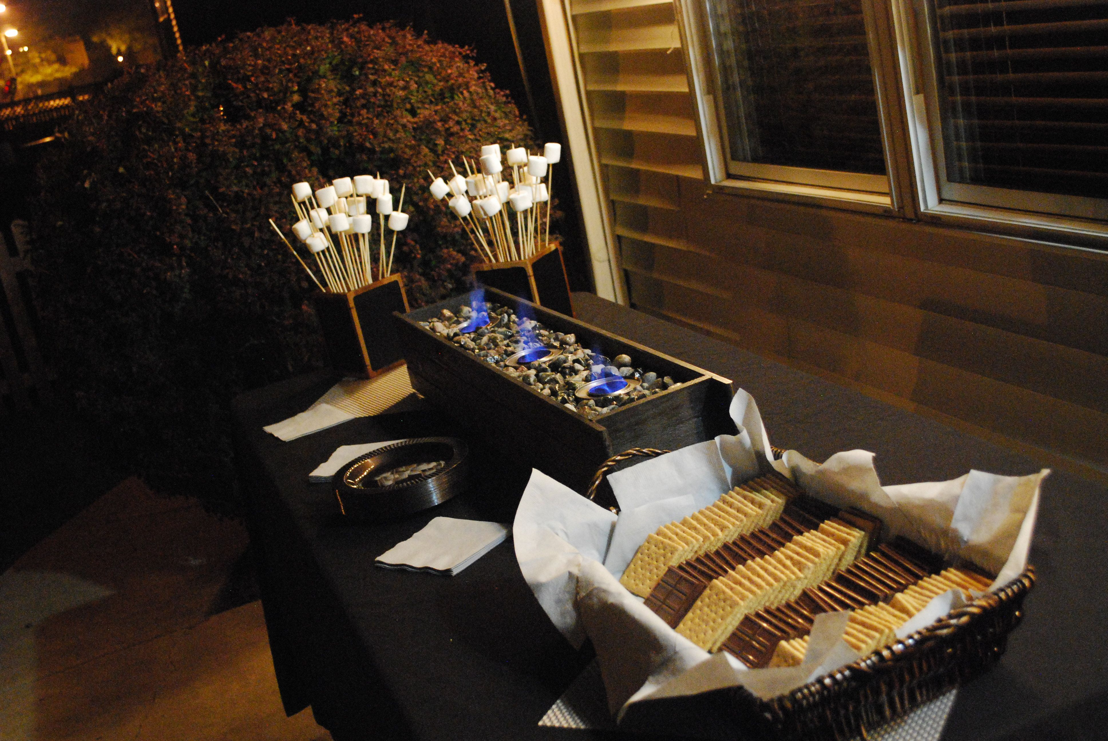 Homemade S'mores Bar For Outdoor Or Indoor Party
