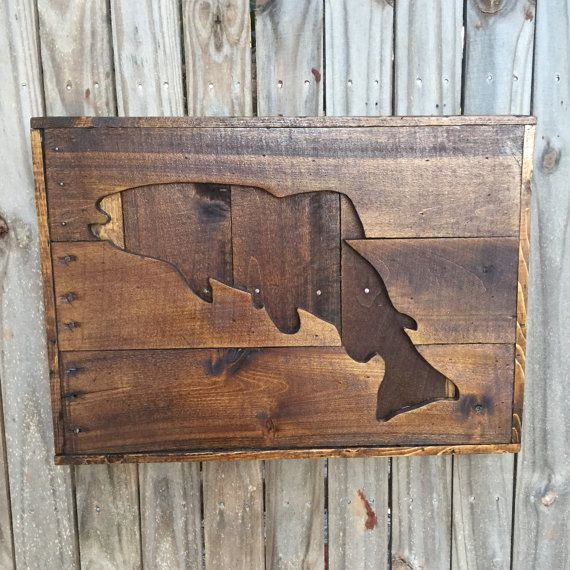 Wooden Texas Recycled Pallet Sign By Rusticrestyle On Etsy: Palette En Bois Cerf Silhouette Wall Hanging Par