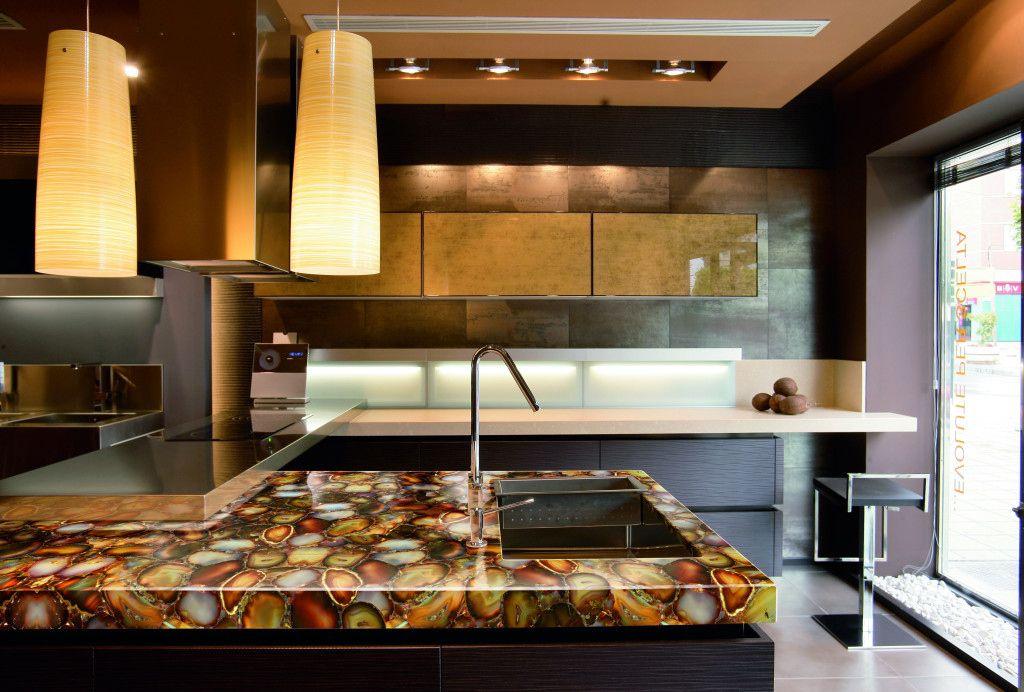 Modern Kitchen Countertops From Unusual Materials 30 Ideas Modern Kitchen Countertops Countertop Design Kitchen Countertops