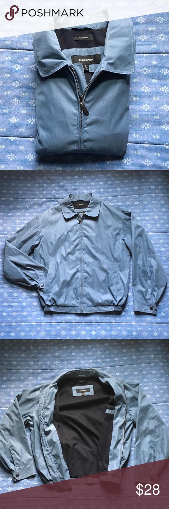 Nwot Liz Claiborne Microfiber Jacket Blue Jacket Men Clothes Design Jackets [ 1740 x 580 Pixel ]
