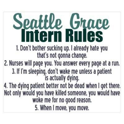 Intern Rules Greys Anatomy Funny Grey Anatomy Quotes Anatomy Quote