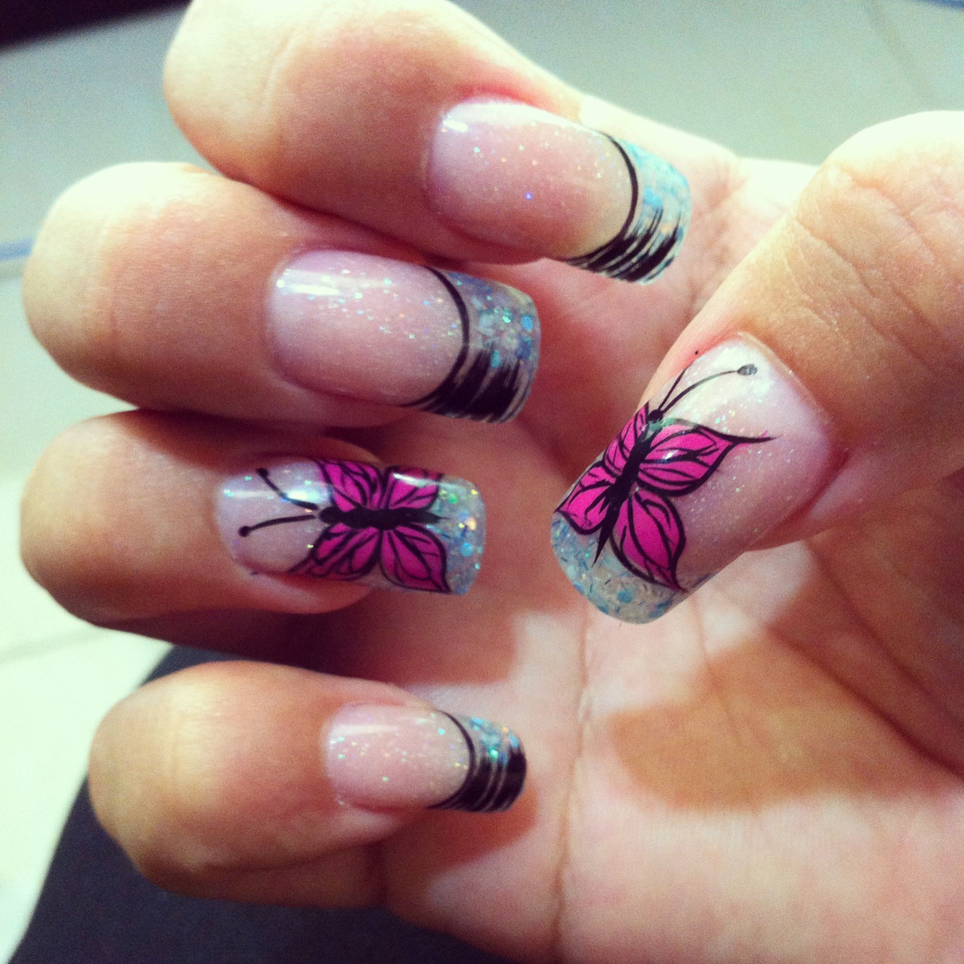 nailart #butterfly #colors diseños uñas coloridas | My Nails designs ...