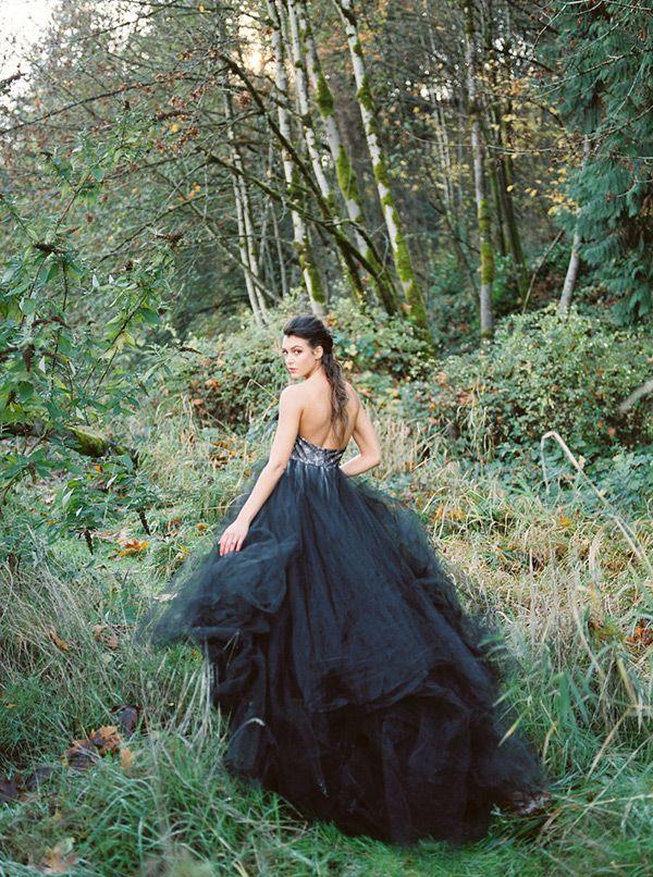 dc0beb1fc6 Bridal Noir  26 Breathtaking Black Wedding Dresses
