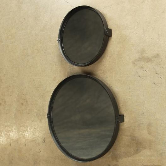 HomArt Pivot Iron Mirror - Rnd - Small - Black Waxed | Iron, Art ...