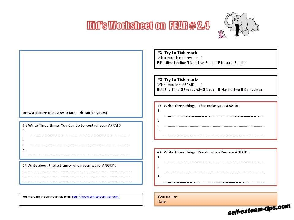 Therapy Worksheets For Children Therapy Worksheets And Handouts
