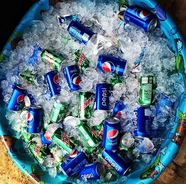Big party and only one cooler..problem solved!