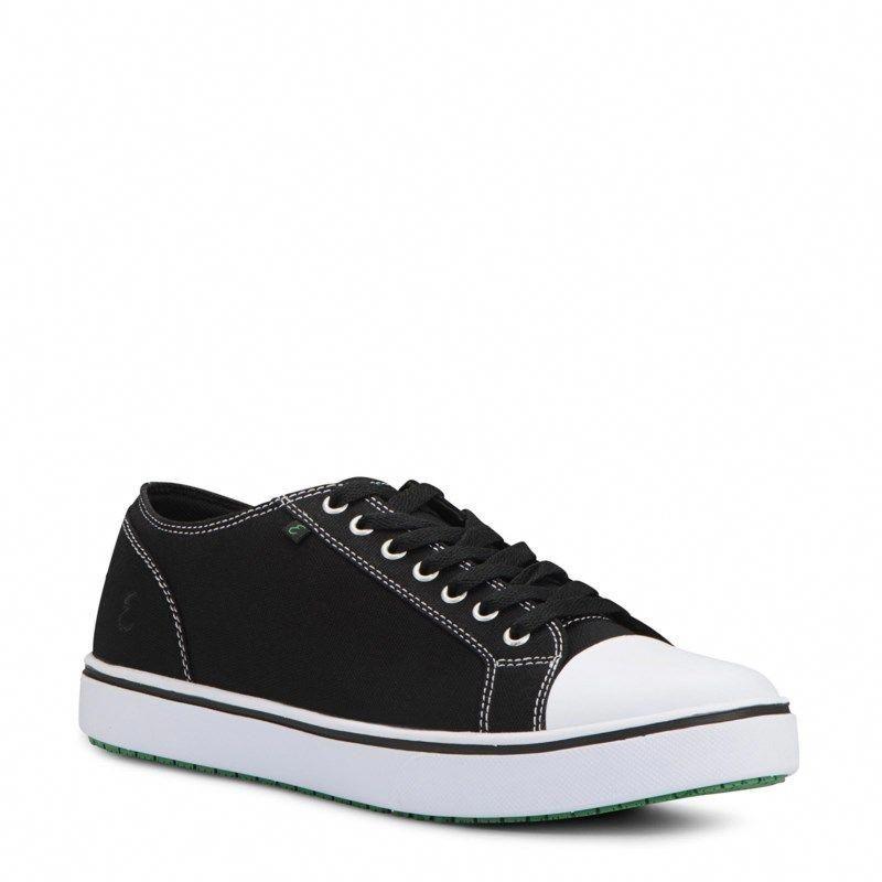 3306475338d2 Emeril Men s Canal Canvas Wide Memory Foam Slip Resistant Sneakers (Black  Canvas)  widemenssneakers