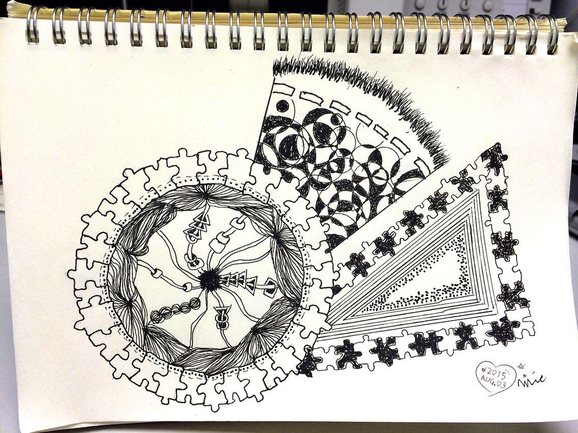 Scribble Drawing Crossword Clue : Aillis art doodle doodleart sketch life nice hobby