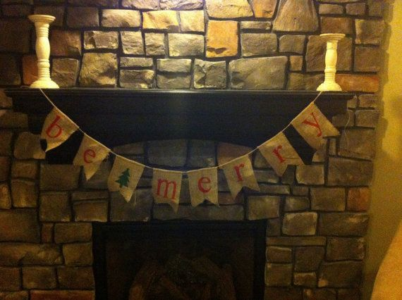 Be merry christmas banner by DibbleDabble123 on Etsy