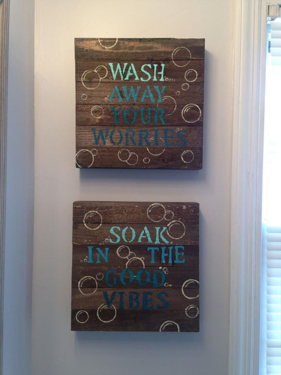 Wall art ideas for bathroom beach signs in pinterest