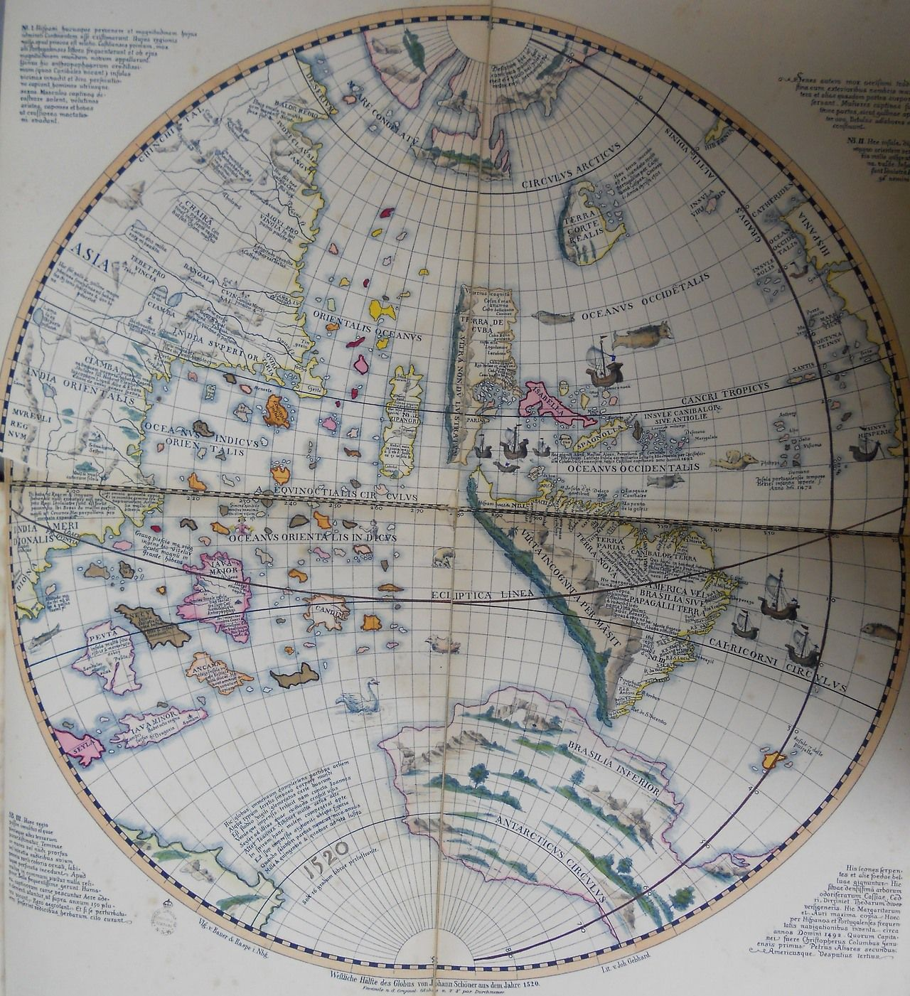 This Map By Johannes Schoner Shows The Western
