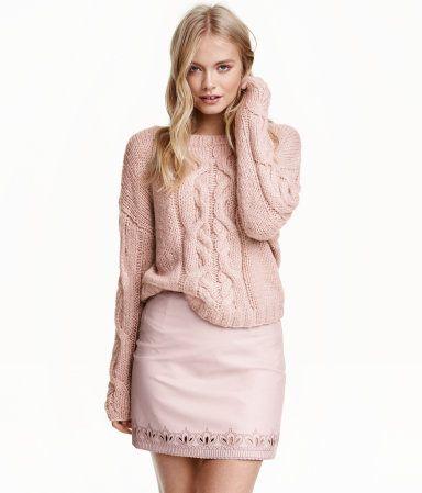 Kort kjol | Gammelrosa | Dam | H&M SE