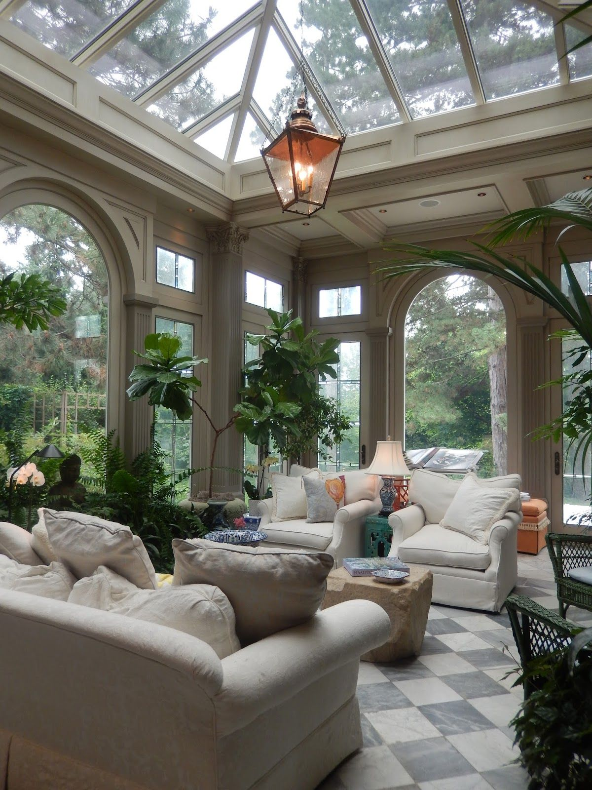 Window ideas for a sunroom  the french tangerine  inspired home favorite house part