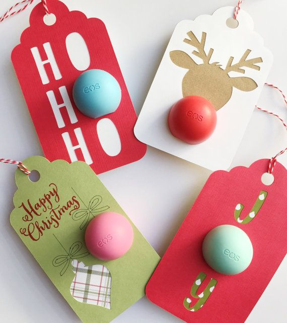 Gift Ideas For Coworkers For Christmas: EOS Lip Balm Gift Tag By AllAboutADesigns On Etsy