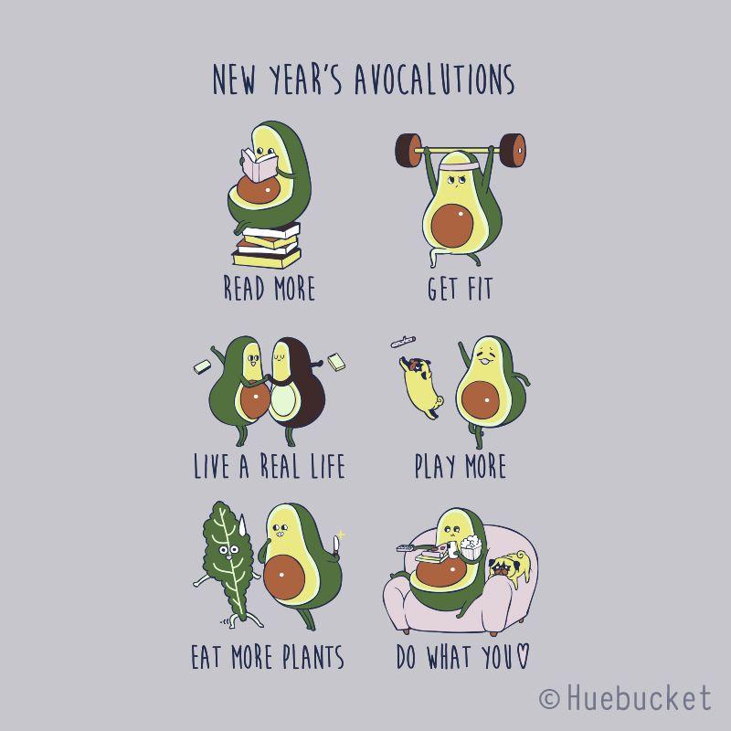 New Year S Resolutions With Avocado Avocado Art Cute Cartoon Drawings Avocado Cartoon Cartoon cute avocado wallpapers