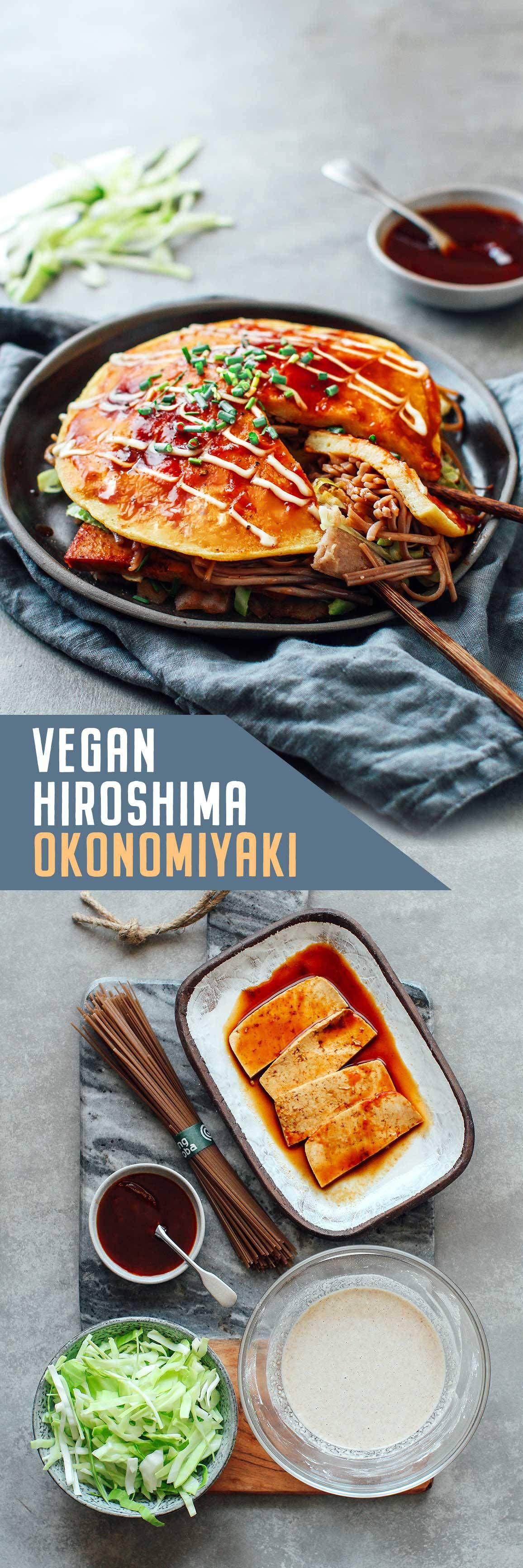 Vegan Hiroshima Style Okonomiyaki