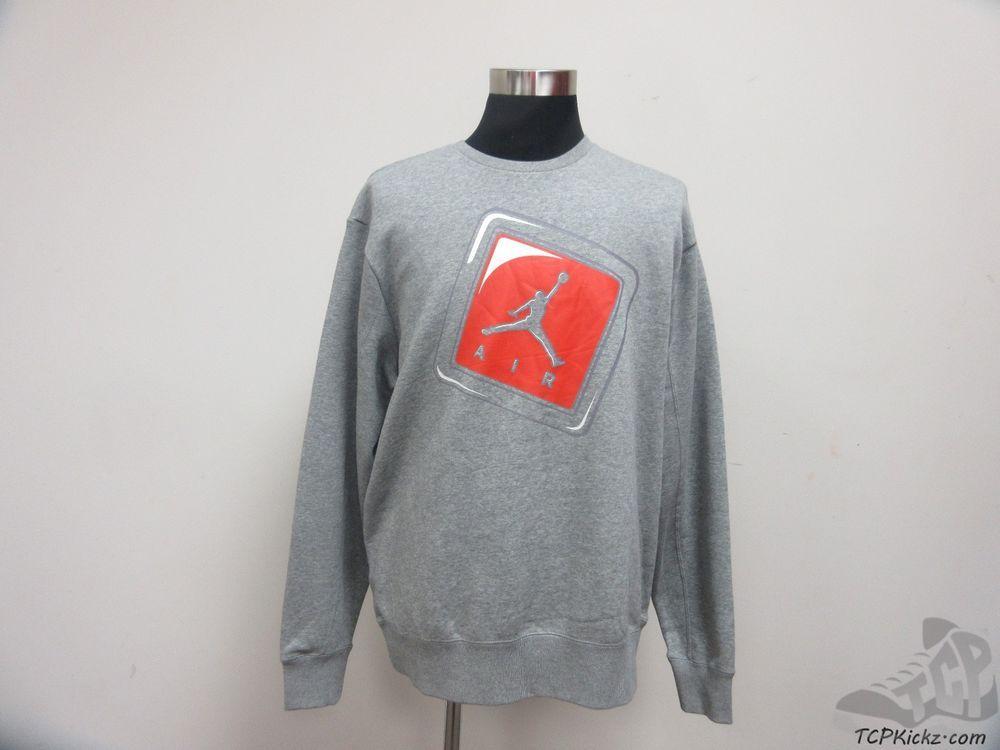 Nike Air Jordan Hang Tag Jumpman Crewneck Sweatshirt sz 2XL