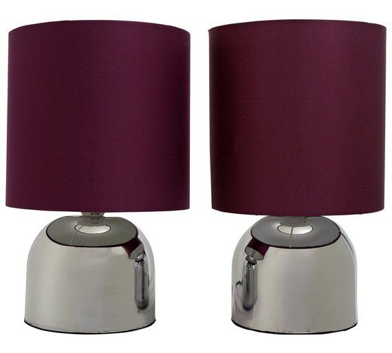 Buy ColourMatch Pair of Touch Table Lamps - Purple Fizz at Argos.co.uk - Your Online Shop for Table lamps, Lighting, Home and garden.