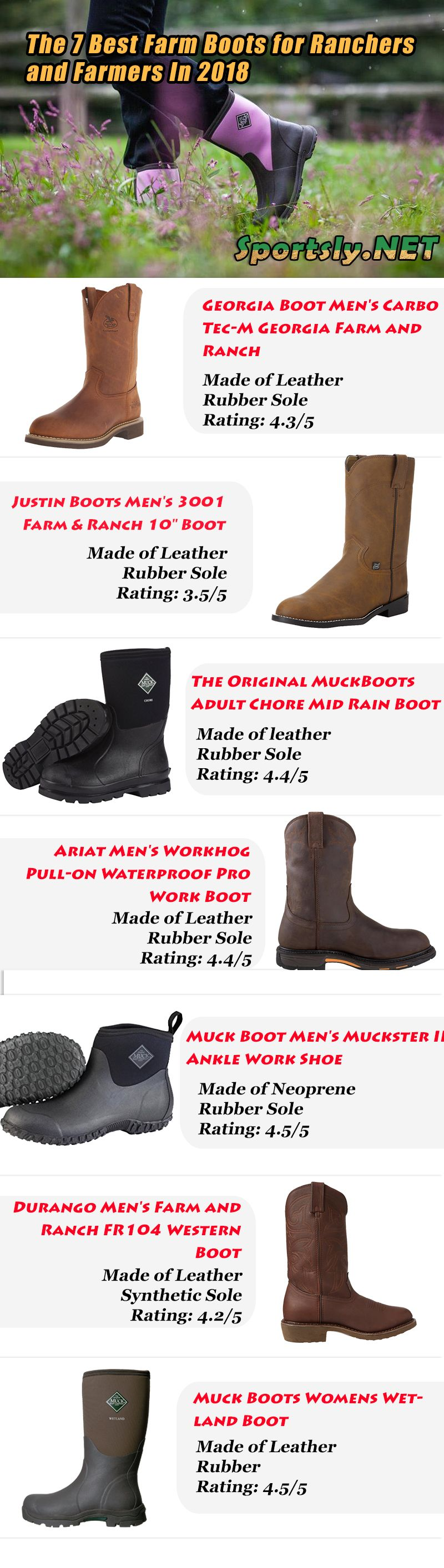 The 7 Best Work Boots for Farmers and