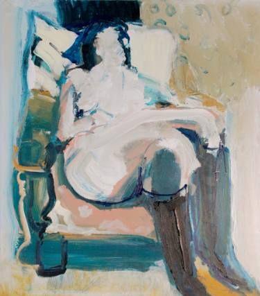 """Saatchi Art Artist Victor van de Lande; Painting, """"Lady with boots"""" #art"""