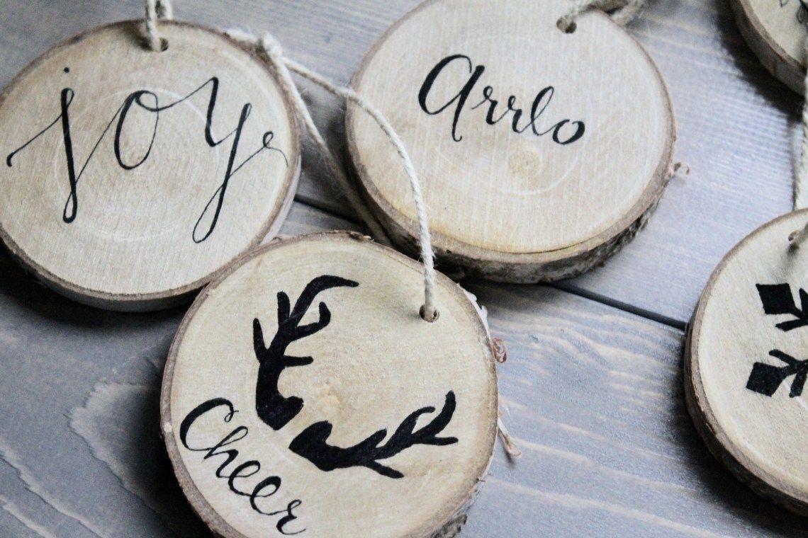 Diy wood christmas ornament u speak glitter christmas ornaments