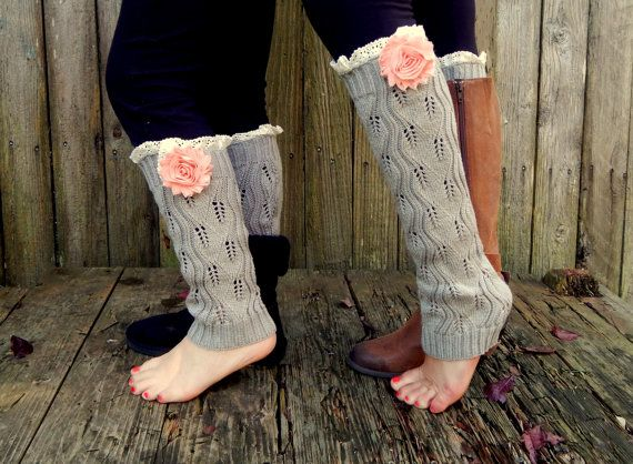 Mom and Me Little Girl Flower Lace knee high leg by LacieGirl