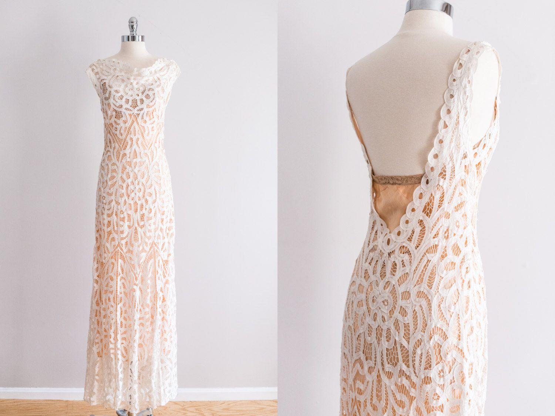 Yep thatus my dress s bias cut battenburg lace wedding gown
