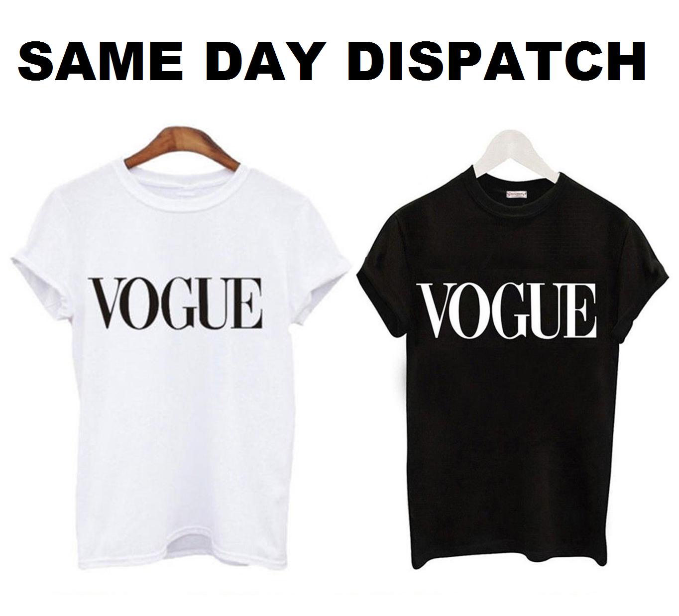5XL Womens Short Sleeve Vogue Slogan Printed Casual T Shirt FashionTop S