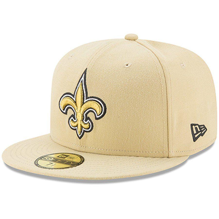 Men s New Orleans Saints New Era Gold Omaha 59FIFTY Hat 7f84caa9e07a