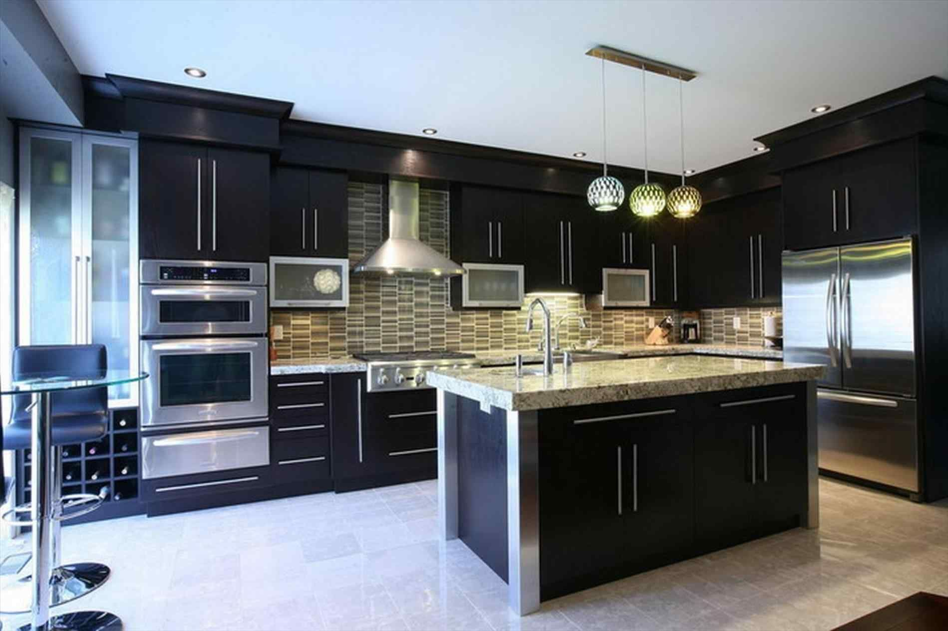 awesome 13 black shiny kitchen cabinets ideas for stunning