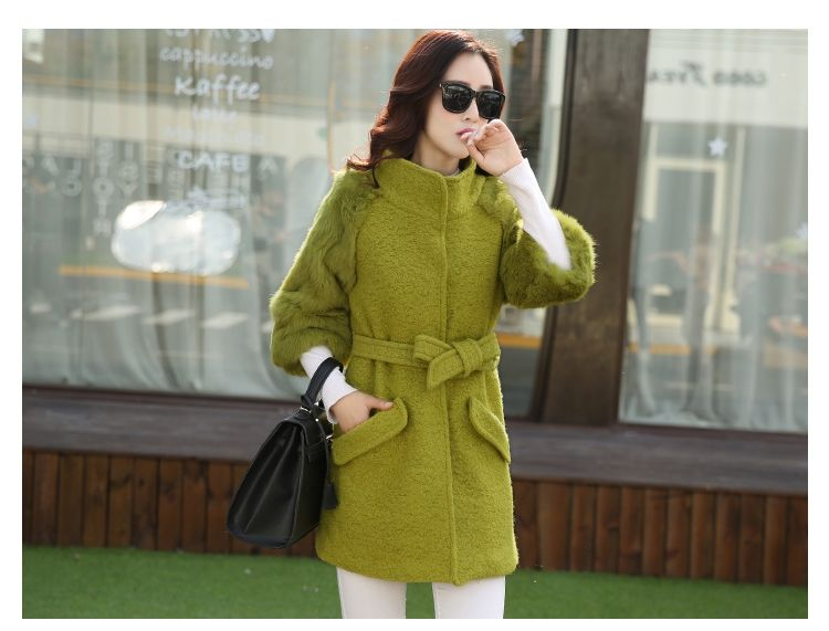 >> Click to Buy << women jacket  women winter coat  Autumn  winter long section of thick woolen coat rabbit fur stitching woolen coat free shipping #Affiliate