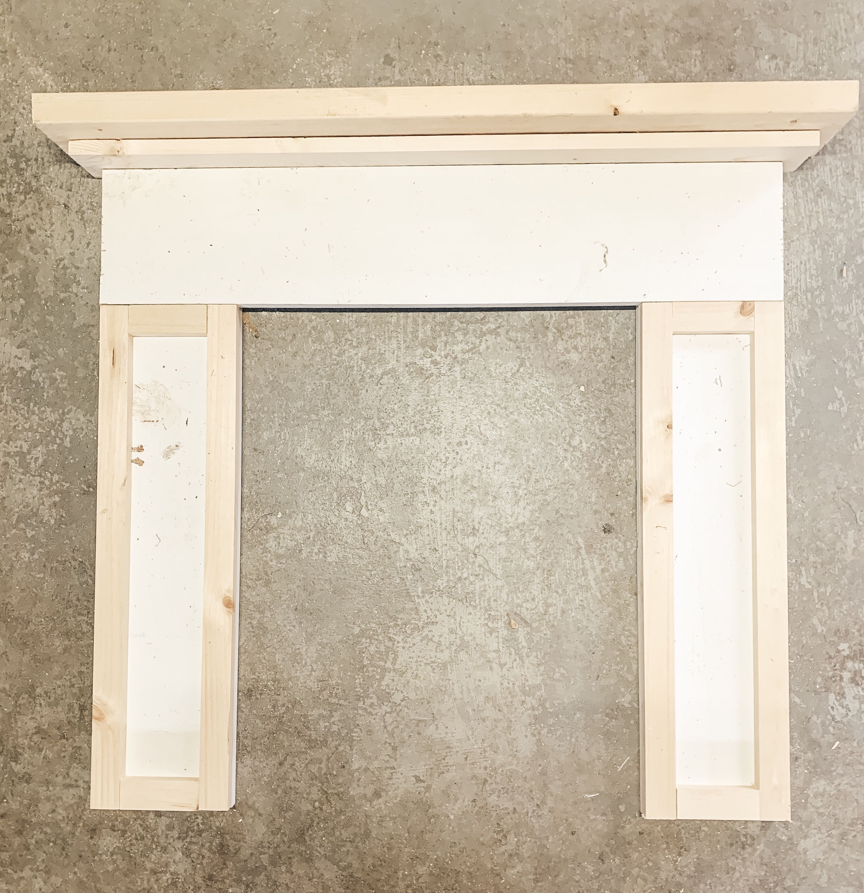DIY Fireplace Mantel Craftsman Style (With images