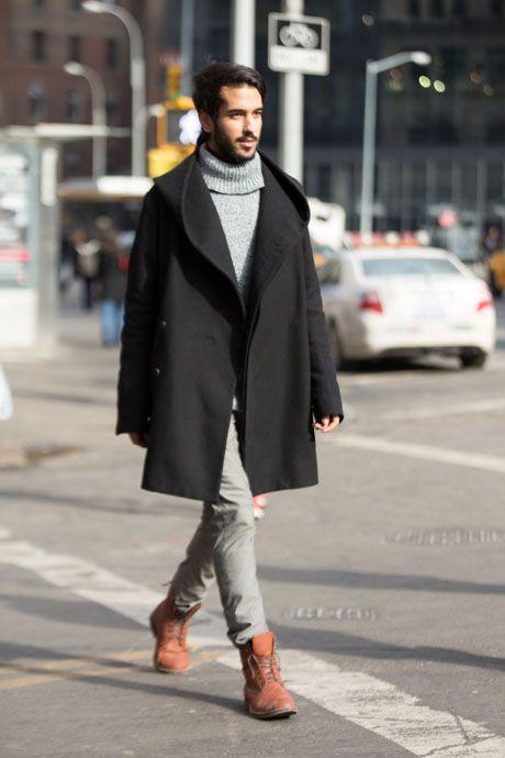 Street Style: Swinging Shawl-Collar Coat