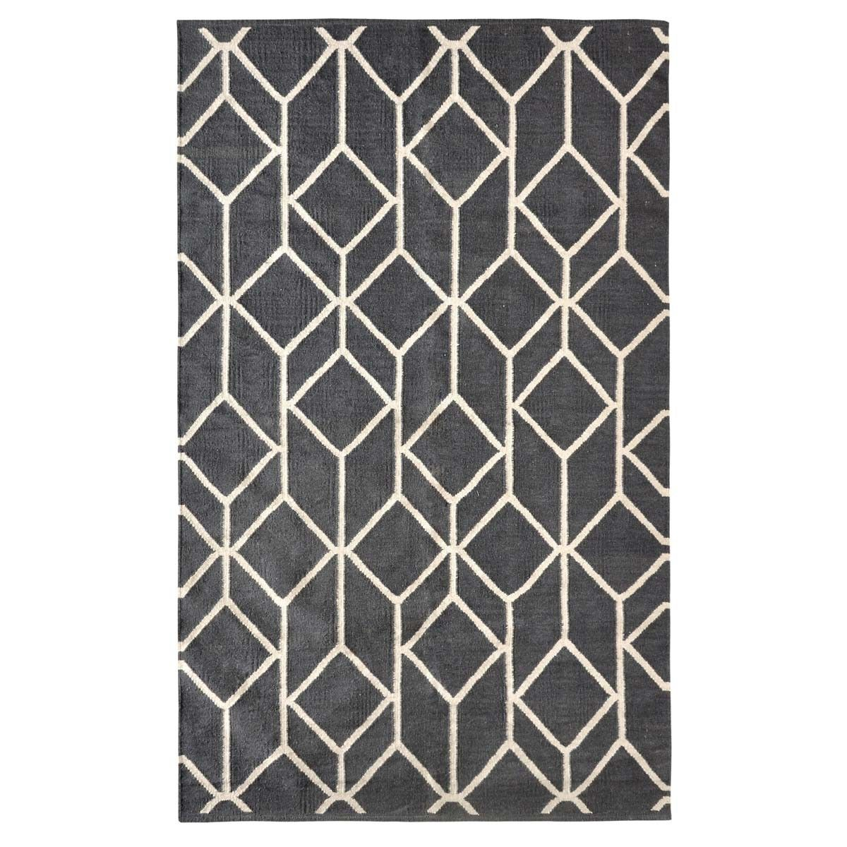 Geo Outline 5x8 Gray Rug