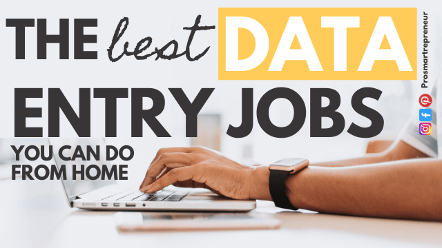 10 Data Entry Jobs To Make Money From Home At Your Own Schedule